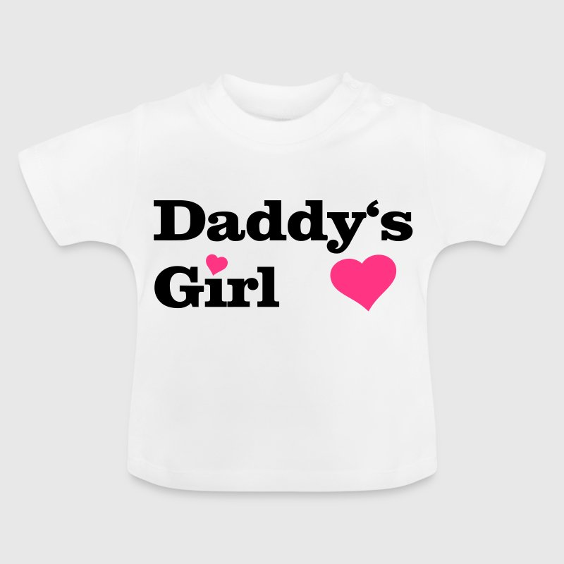 Daddy's Girl I love Dad i heart daddy, herz - Baby T-Shirt