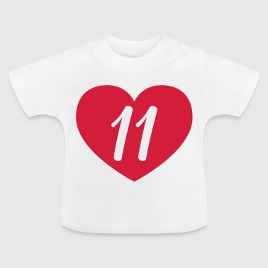 11 birthday heart Shirts - Baby T-Shirt