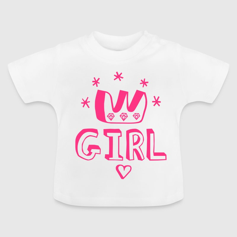 Beautiful Baby girl is born birth birthday child or pregnancy is cause celebration of life for mother father t-shirts - Baby T-Shirt