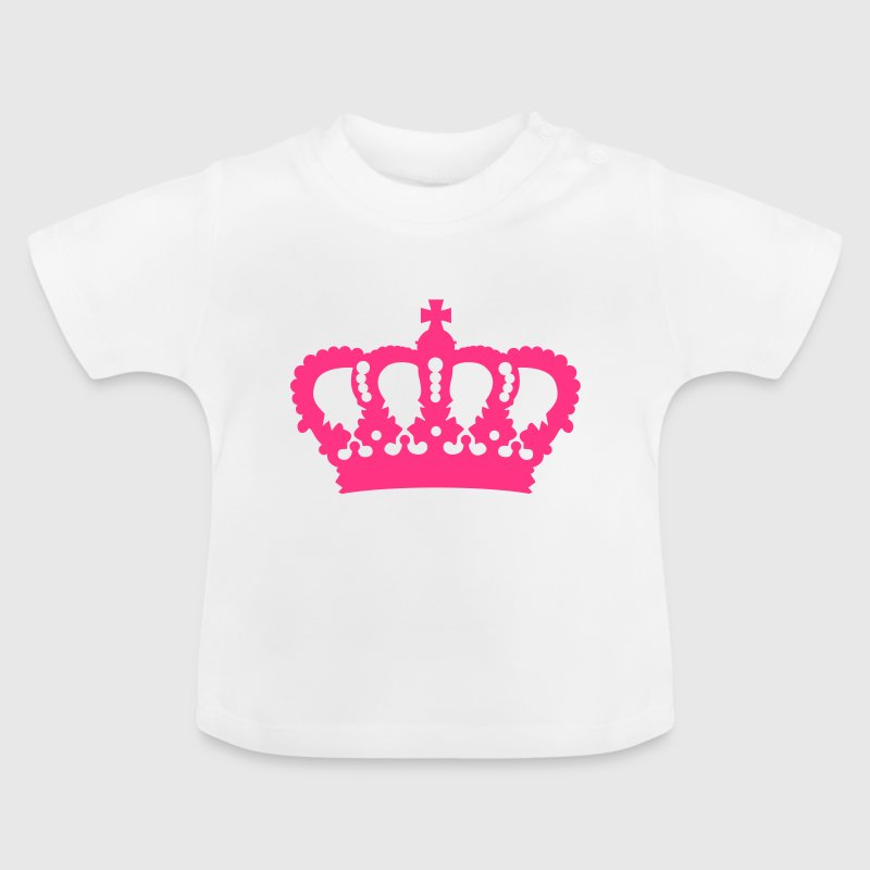 Crown King Queen Prinz Princess Royal pink - Baby T-Shirt