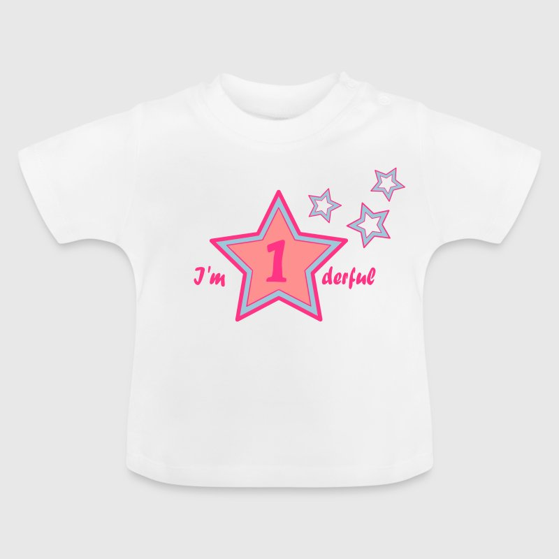 I'm onederful / wonderful first birthday - Baby T-shirt