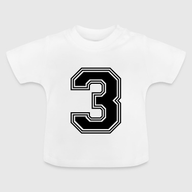 3_number_3_(s31) - Baby T-Shirt
