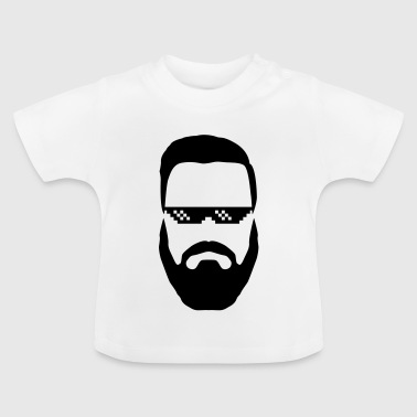 Hipster deal with it Brille Vollbart Nerd swag - Baby T-Shirt