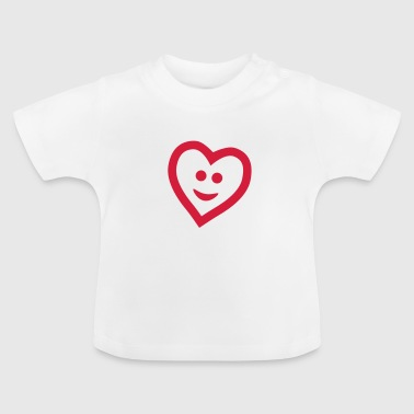 Heart with smile - Baby-T-skjorte