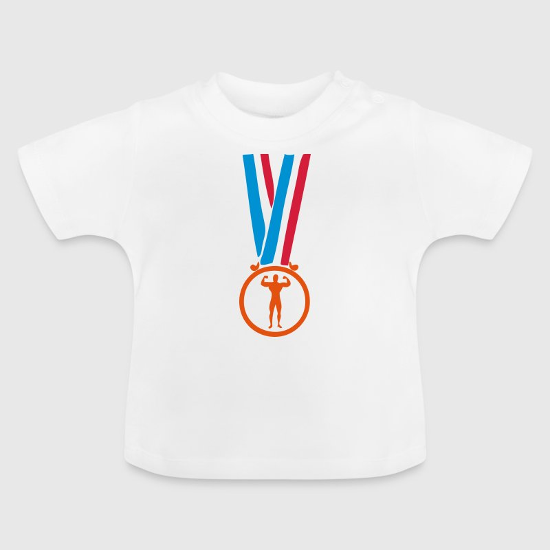 champion medaille musculation bodybuilding - T-shirt Bébé