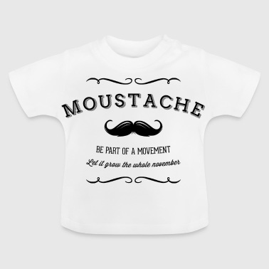 November Moustache Movement - Vauvan t-paita