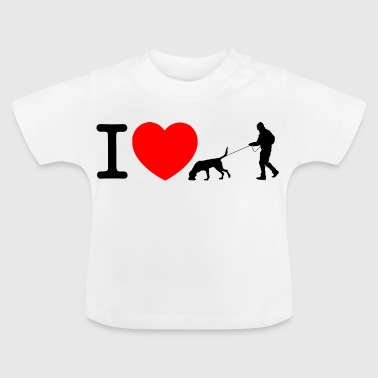 I love mantrailing - Baby T-Shirt