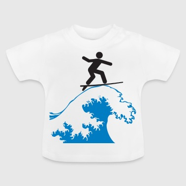 Tabla De Surf surf - Camiseta bebé