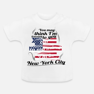 City THERAPY HOLIDAY AMERICA USA TRAVEL New York City - Baby T-Shirt