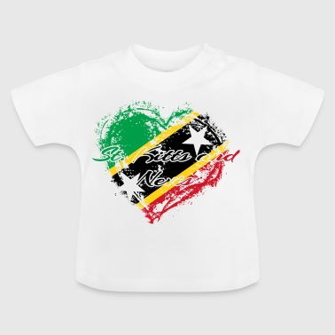 HOME ROOTS COUNTRY GIFT LOVE Saint Kitts and Nevis - Baby T-Shirt