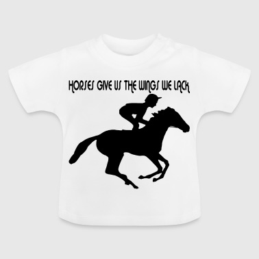 Dressage riding with horse - Baby T-Shirt