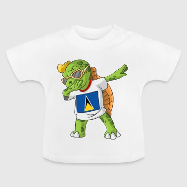 St. Lucia Dabbing turtle - Baby T-Shirt