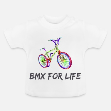Neon BMX for life lettering gift idea - Baby T-Shirt