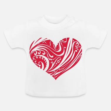Ornament Hjärta Ornament - Baby-T-shirt