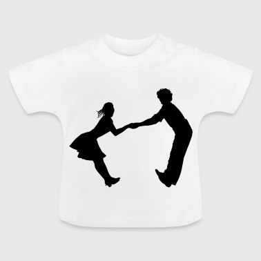 Dancing dance couple music dance music - Baby T-Shirt