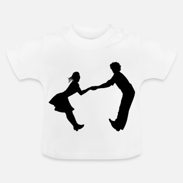 Dance Music Dancing dance couple music dance music - Baby T-Shirt
