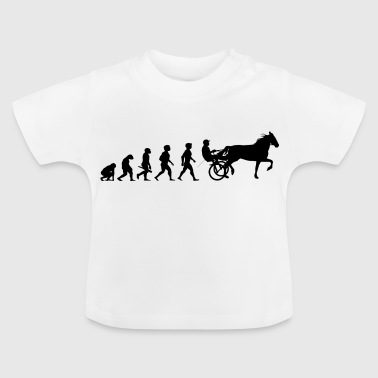 Evolution trot racing horse racing horses - Baby T-Shirt