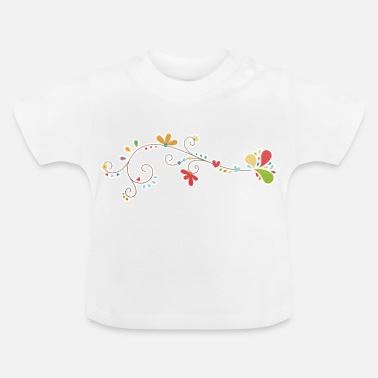 Decoración la decoración floral - Camiseta bebé