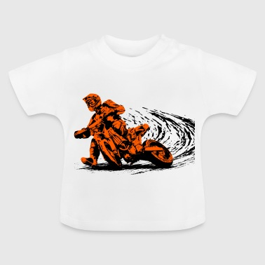Supermoto motorcycle race - Baby T-Shirt