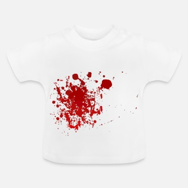Splatter Blood splatter splatter Halloween blood spatter - Baby T-Shirt