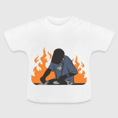 DJ an den Turntables - Baby T-Shirt