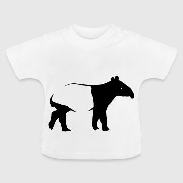 Saddle Cloth Tapir Silhoutte exotic animal gift - Baby T-Shirt