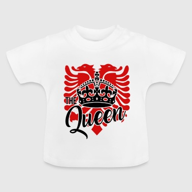 Albanian eagle for an albanian queen - Baby T-Shirt