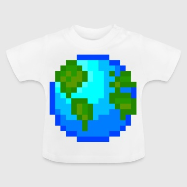 Idée cadeau Pixelart World Planet Nature Pixelart - T-shirt Bébé