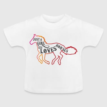 Horses love riding dressage - Baby T-Shirt