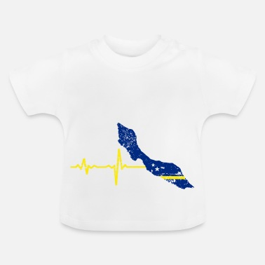 Curaçao Heartbeat Curacao Gift - Baby T-shirt
