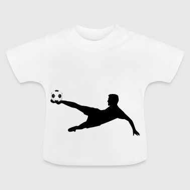 Fußball Silhouette - Baby T-Shirt