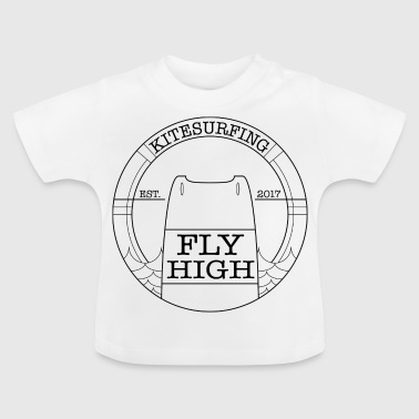 Kitesurf Fly High Kiteboard noir - T-shirt Bébé