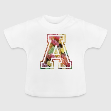 A like Anton alphabet letter college style - Baby T-Shirt