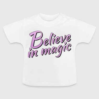 Believe in magic logo in lilac - Baby T-Shirt