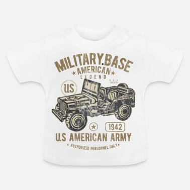 Jeep MILITARY BASE - US Army Jeep Shirt Motiv - Baby T-Shirt