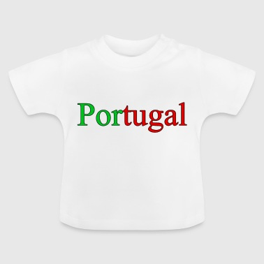 Portugal in den Nationalfarben - Baby T-Shirt