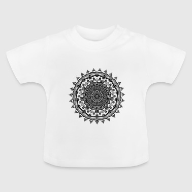 Shaded Aztec Mandala - Baby T-Shirt