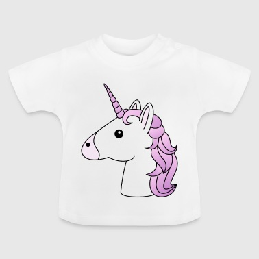Unicorn head in lilac - Baby T-Shirt