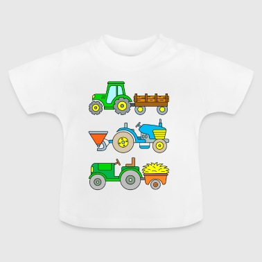 Traktorer: Tømmertransport, sæde, transport - Baby T-shirt