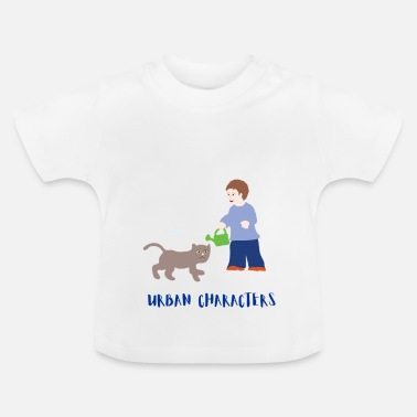 Character Urban Characters: Boy and Cat - Baby T-Shirt