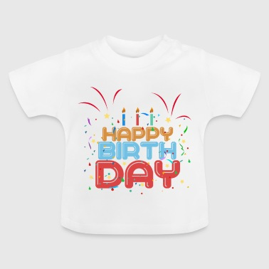 Velas Happy Birth Day - Camiseta bebé