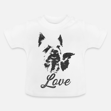 Picture Yorkie Picture Black - Baby-T-shirt