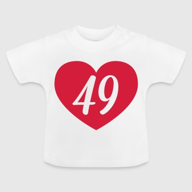 49th birthday heart Shirts - Baby T-Shirt