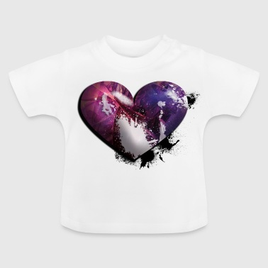 splatter heart - T-shirt Bébé