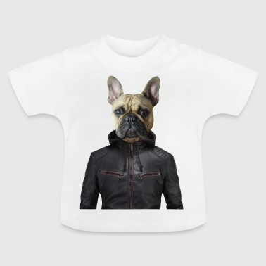Drol bulldog veste humour fantaisie cuir chien animal d - Baby T-shirt