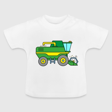 Combine harvester on the farm - Baby T-Shirt