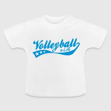 Beachvolleyball volleyball is life - retro - Maglietta per neonato