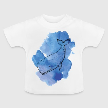 Whale Color - Baby-T-shirt