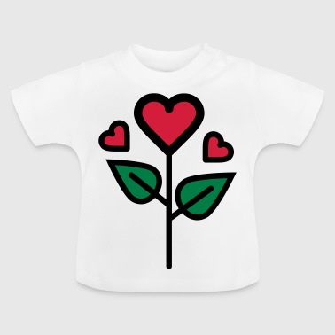 Valentine's Rose in heart shape - Baby T-Shirt