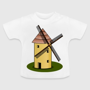 windmolen wind Muehle windturbine windrad28 - Baby T-shirt